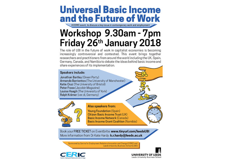 CERIC universal basic income event flyer