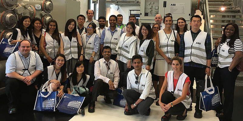 MBA students visit the robotics and automation firm, ABB