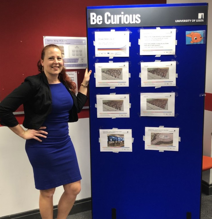 Dr Natalie Van Der Wal standing by the quiz photos