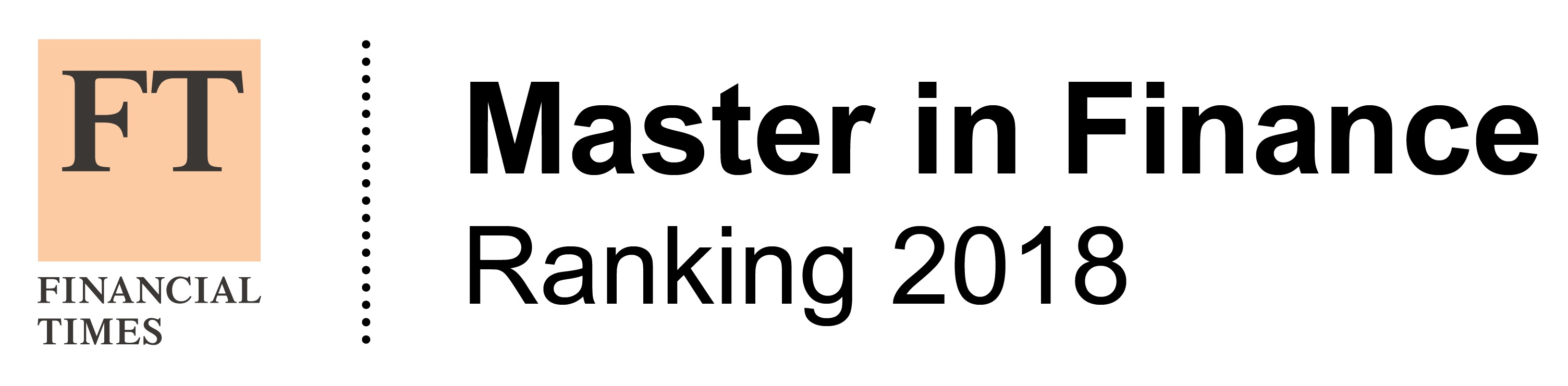 FT Masters in Finance 2018 logo