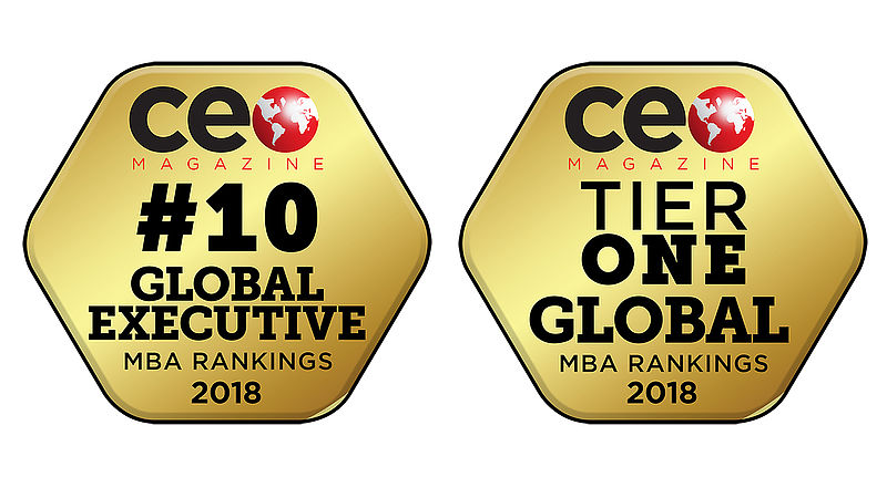 Executive MBA number 1 in the UK in CEO MBA Rankings