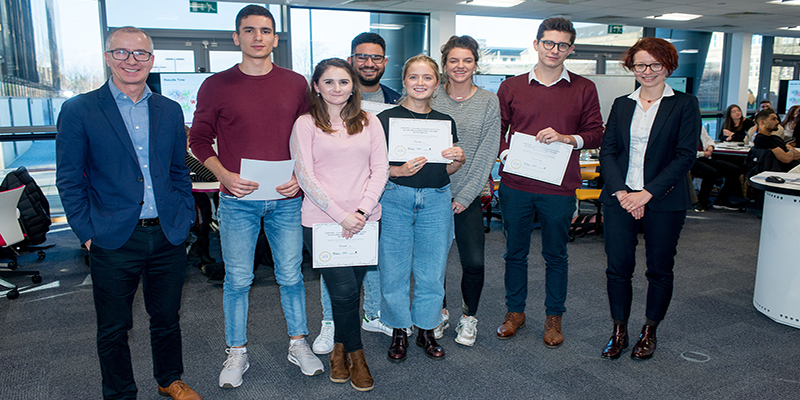 Students enter the Dragons' Den
