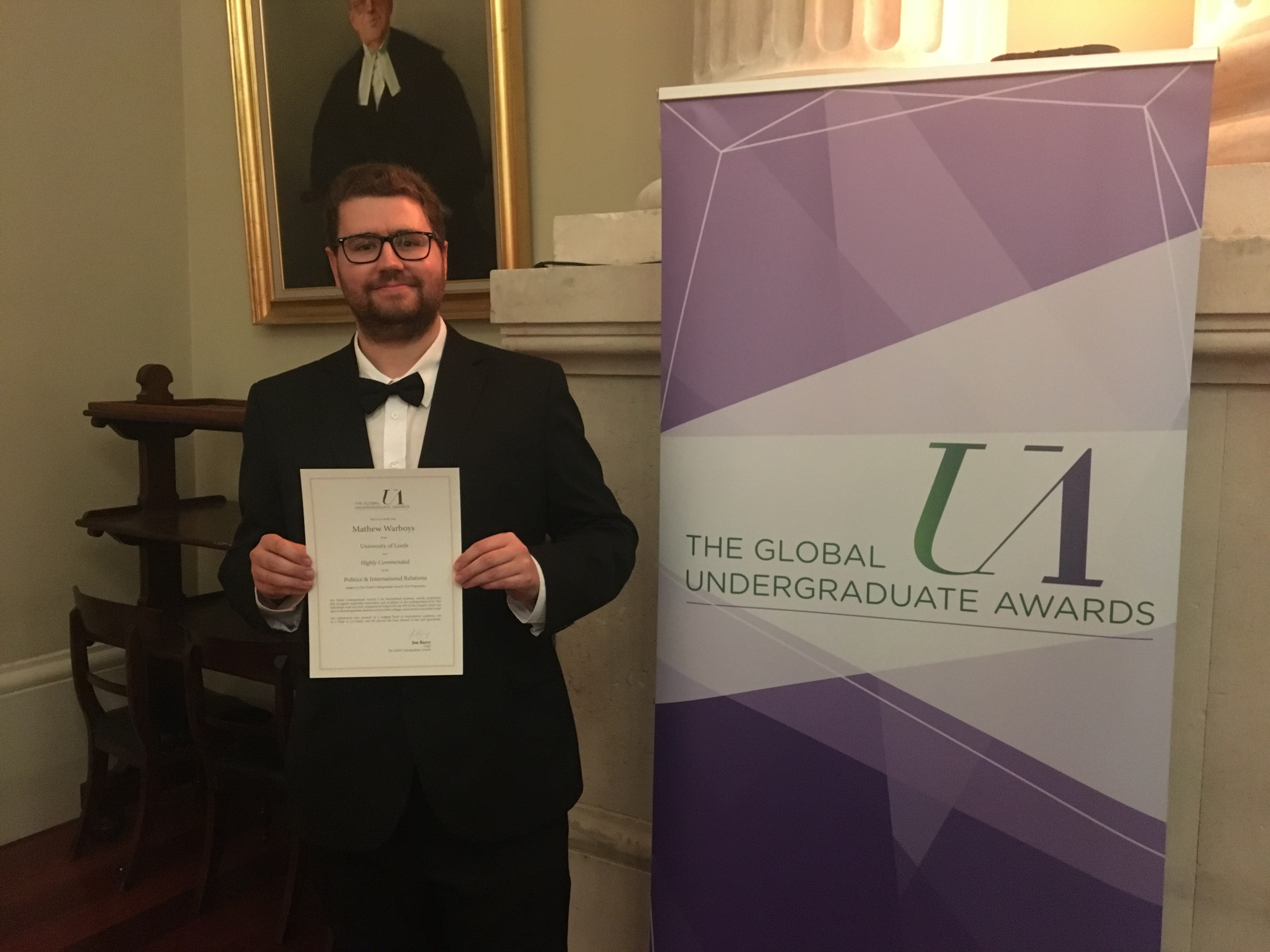 Alumnus celebrates 'Highly Commended' at the Global Undergraduate Awards