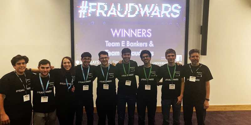 Students fight financial fraud at Barclays Hackathon