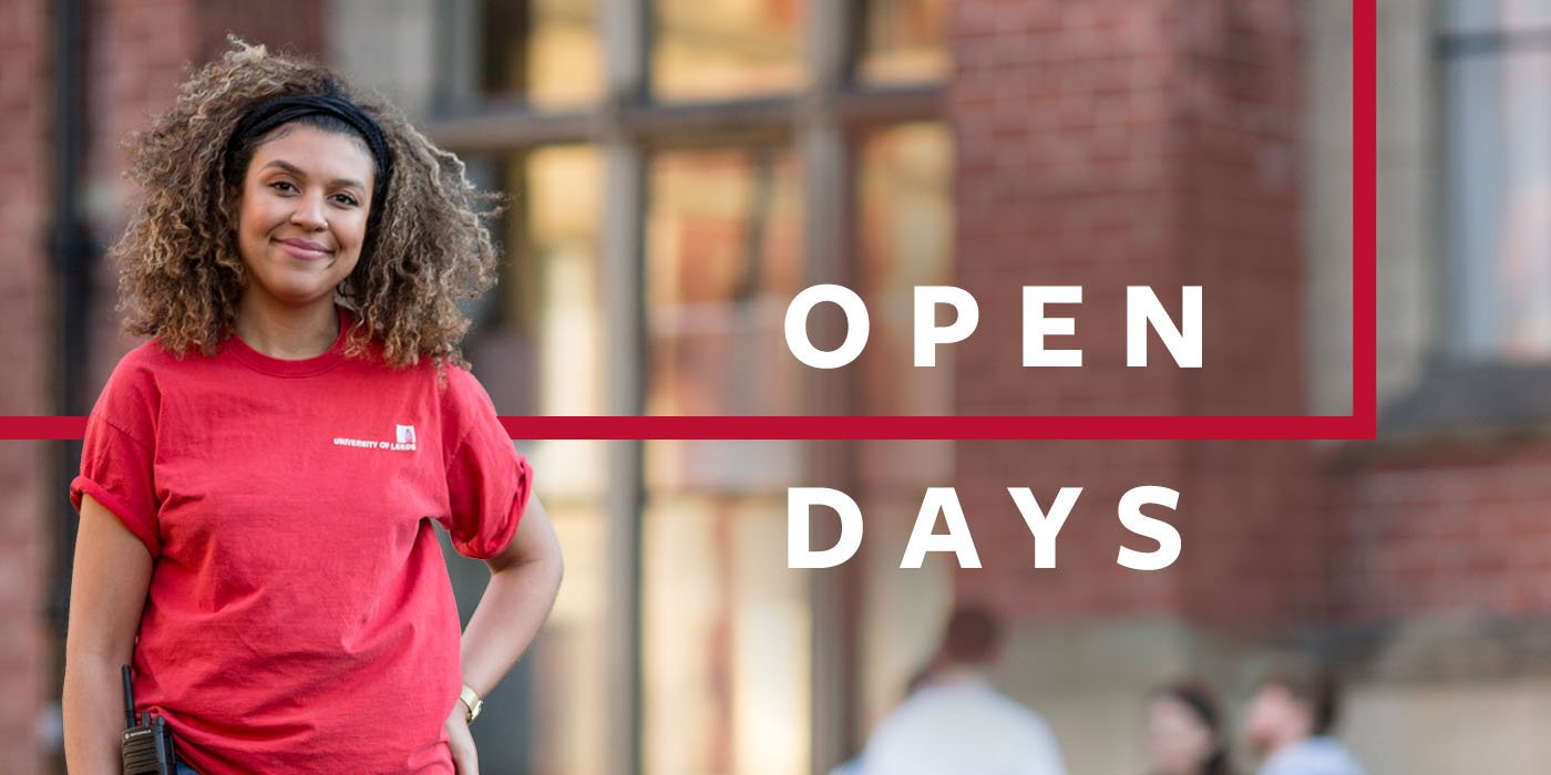 Open Day assistant on campus