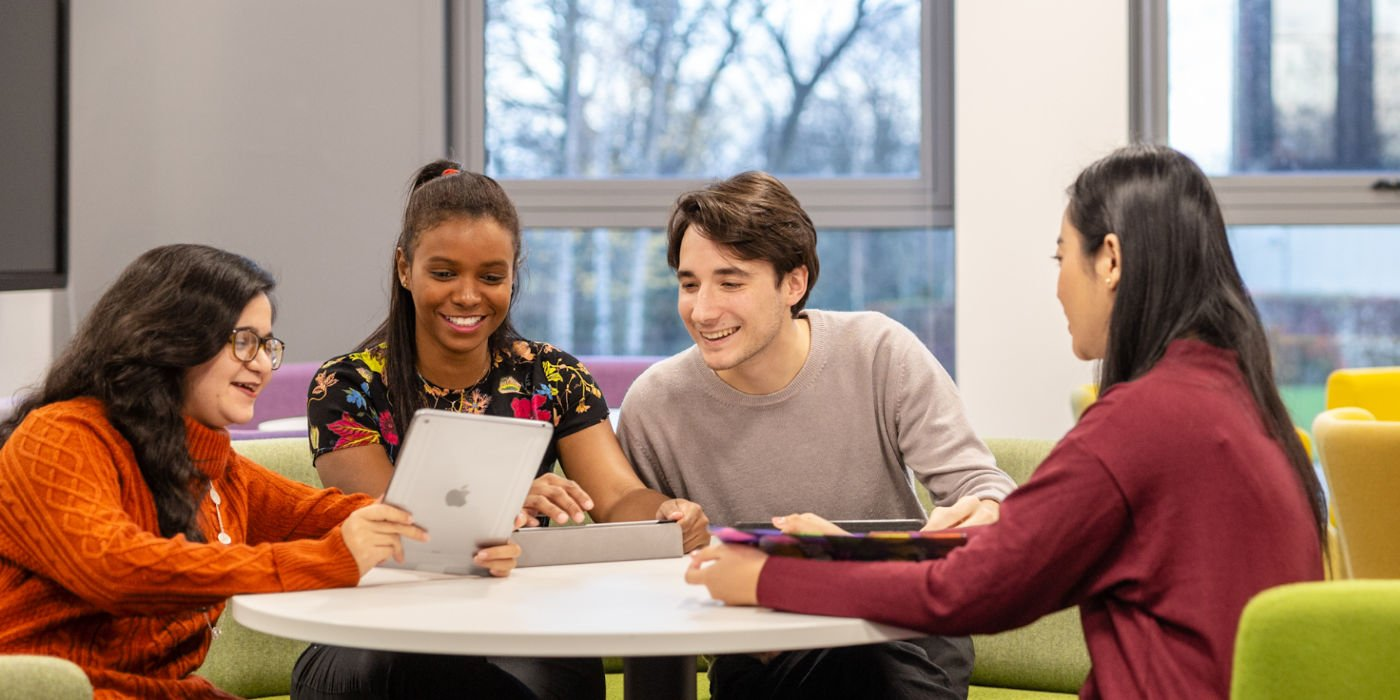 Students studying in collaborative