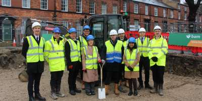 Ground breaking event, Lyddon Terrace, November 2019