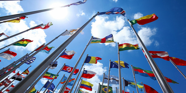 Photograph of flags of the world