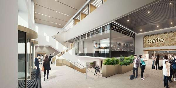 Image showing a design of the foyer of the Esther Simpson building