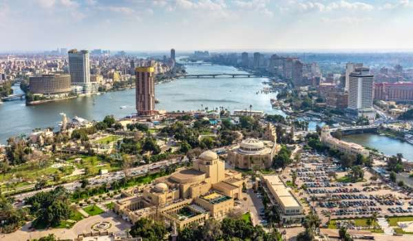 Skyline of Cairo, Egypt