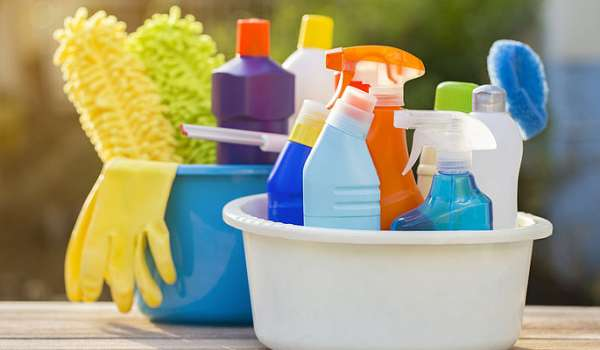 Photograph of cleaning products